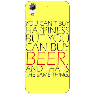 EYP Beer Quote Back Cover Case For HTC Desire 626G