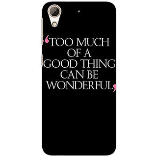 EYP Quote Back Cover Case For HTC Desire 626G+