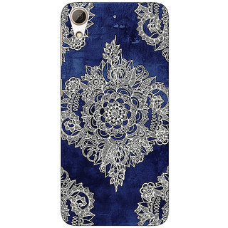 EYP Vintage Luxury Pattern Back Cover Case For HTC Desire 728
