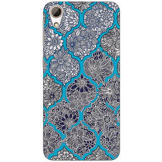 EYP Blue Morroccan Pattern Back Cover Case For HTC Desire 728