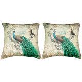 Pair Of Peacock Cushion Cover Throw Pillow Design 3