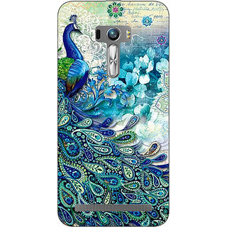 EYP Peacock Canvas Back Cover Case For Asus Zenfone Selfie