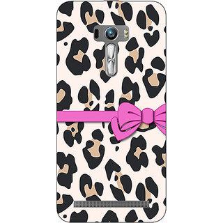 EYP Leopard Pattern Bow Back Cover Case For Asus Zenfone Selfie