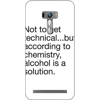 EYP Alcohol Quote Back Cover Case For Asus Zenfone Selfie