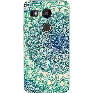 EYP Emerald Doodle Pattern Back Cover Case For LG Google Nexus 5X