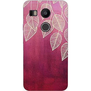 EYP Golden Leaves Pattern Back Cover Case For LG Google Nexus 5X