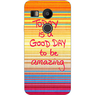 EYP Good Day Pattern Back Cover Case For LG Google Nexus 5X