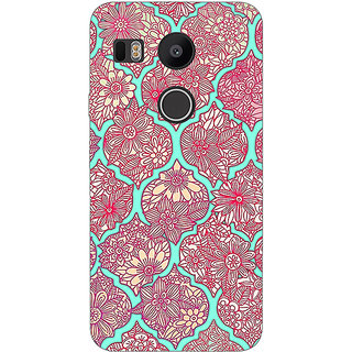 EYP Pink Morroccan Pattern Back Cover Case For LG Google Nexus 5X
