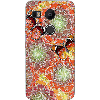 EYP Butterflies Pattern Back Cover Case For LG Google Nexus 5X