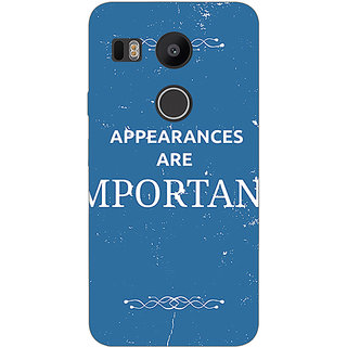 EYP SUITS Quotes Back Cover Case For LG Google Nexus 5X