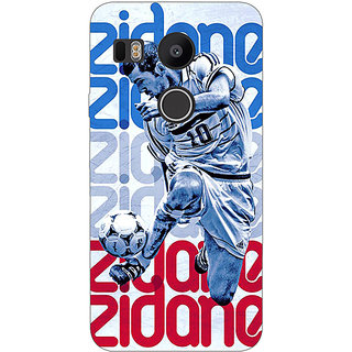 EYP Real Madrid Zidane Back Cover Case For LG Google Nexus 5X