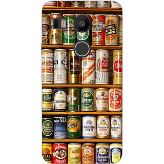 EYP Beer Cans Back Cover Case For LG Google Nexus 5X