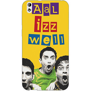 EYP Bollywood Superstar Three Idiots All is Well Back Cover Case For HTC Desire 816
