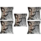 Set Of Five Face With Flower Cushion Cover Throw Pillow