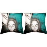 Pair Of Faces Cushion Cover Throw Pillow Design 2