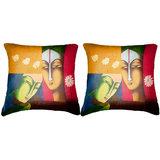 Pair Of Faces Cushion Cover Throw Pillow Design 3