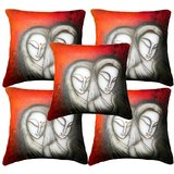 Set Of Five Faces Cushion Cover Throw Pillow Design 5