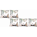 Set Of Five Hope Cushion Cover Throw Pillow Design 1
