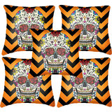 Set Of Five Skull 2  Cushion Cover Throw Pillow