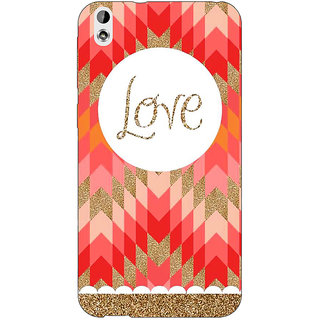 EYP Love Back Cover Case For HTC Desire 816 Dual Sim
