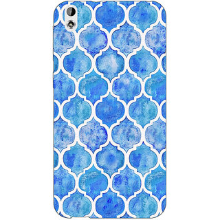 EYP White Blue Moroccan Tiles Pattern Back Cover Case For HTC Desire 816 Dual Sim