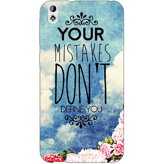 EYP Quotes Mistakes Back Cover Case For HTC Desire 816 Dual Sim
