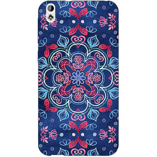 EYP Night Floral Pattern Back Cover Case For HTC Desire 816G