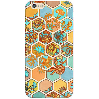 EYP Floral Hexagon Pattern Back Cover Case For Apple iPhone 6S