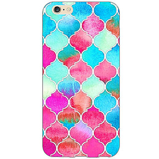 EYP Blue Pink Moroccan Tiles Pattern Back Cover Case For Apple iPhone 6S