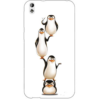 EYP Penguins Madagascar Back Cover Case For HTC Desire 816G