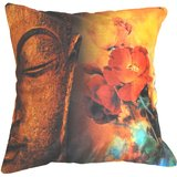 Saint With Flowers Cushion Cover Throw Pillow Design 1