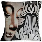 Face With Flowers Cushion Cover Throw Pillow
