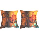 Pair Of Saint With Flowers Cushion Cover Throw Pillow
