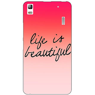 EYP Quotes Life is Beautiful Back Cover Case For Lenovo K3 Note