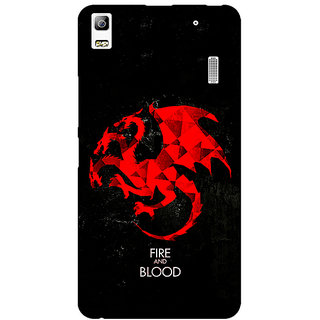 EYP Game Of Thrones GOT House Targaryen  Back Cover Case For Lenovo K3 Note