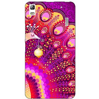 EYP Tribal Peacock Back Cover Case For Lenovo K3 Note