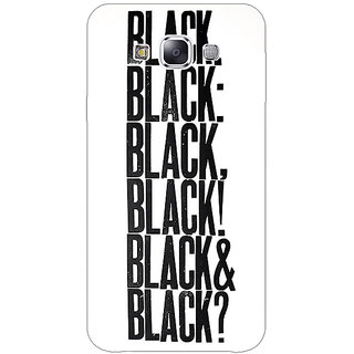 EYP Black Quotes Back Cover Case For Samsung Galaxy J3