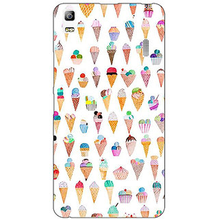 EYP Ice cream Doodle Back Cover Case For Lenovo K3 Note