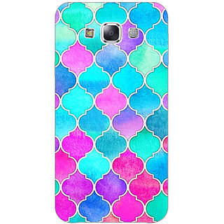 EYP Pink Blue Moroccan Tiles Pattern Back Cover Case For Samsung Galaxy J5