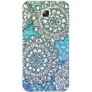 EYP Floral Blue Pattern Back Cover Case For Samsung Galaxy J7