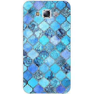 EYP Blue Moroccan Tiles Pattern Back Cover Case For Samsung Galaxy J7