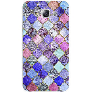 EYP Purple Moroccan Tiles Pattern Back Cover Case For Samsung Galaxy J7
