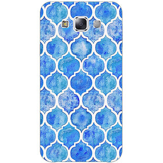EYP White Blue Moroccan Tiles Pattern Back Cover Case For Samsung Galaxy J7