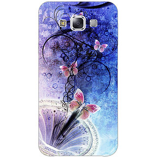 EYP Abstract Butter Fly Pattern Back Cover Case For Samsung Galaxy J7
