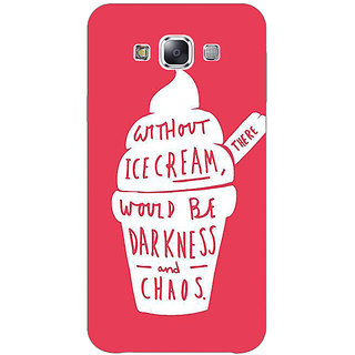 EYP Ice Cream Quote Back Cover Case For Samsung Galaxy J7