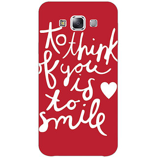 EYP Quotes Smile Back Cover Case For Samsung Galaxy On5