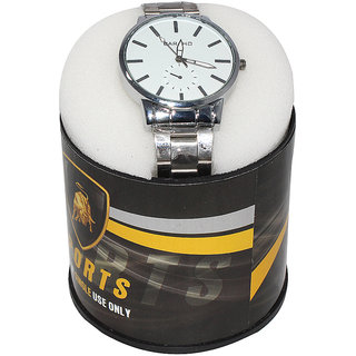 Paramsai Silver Metal Wrist Watch