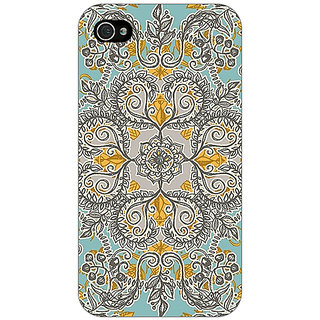 Enhance Your Phone Vintage Floral Pattern Back Cover Case For Apple iPhone 4 E10262