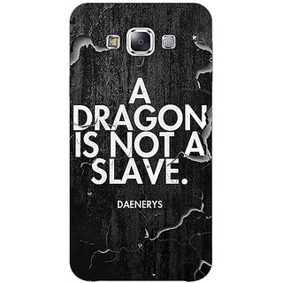 EYP Game Of Thrones GOT Targaryen Dragon Quote Back Cover Case For Samsung Galaxy On5