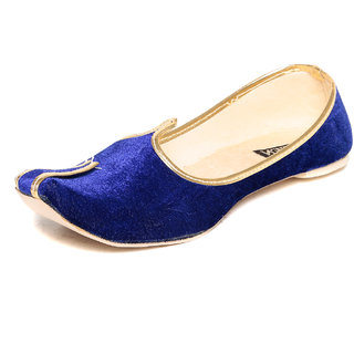 TEN Mens Blue Juttis -TENJTI-TLJ032BLUE
